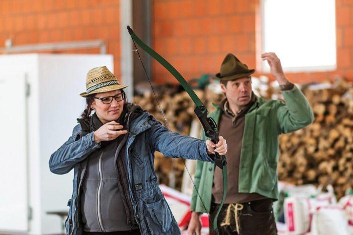 Bogenschießen bei der Bauernolympiade Münster am Kappenberger Damm 340